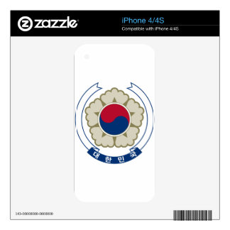South Korea Coat of Arms iPhone 4 Decals
