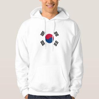 South Korea Country Flag Hooded Sweatshirt