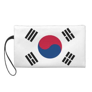 South Korea Country Flag Wristlet