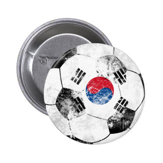 South Korea Distressed Soccer 2 Inch Round Button