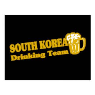South Korea Drinking Team Postcard