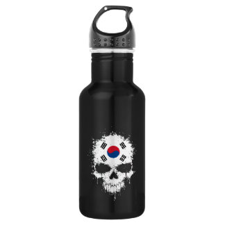 South Korea Dripping Splatter Skull Stainless Steel Water Bottle
