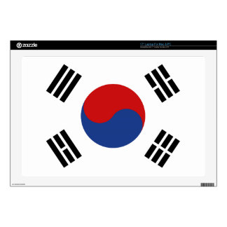 "South Korea Flag 17"" Laptop Decal"