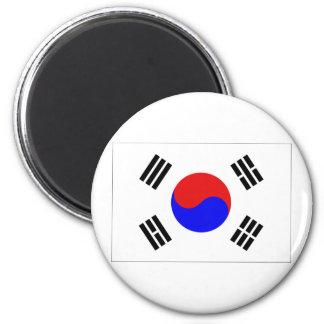 South Korea Flag 2 Inch Round Magnet