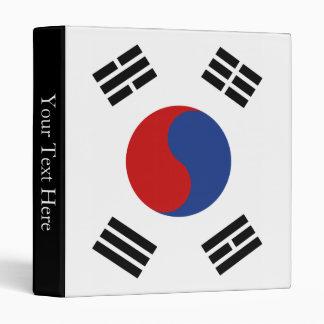 South Korea Flag Binder