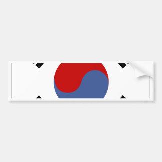 South Korea Flag Bumper Sticker