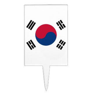 South Korea Flag Cake Topper