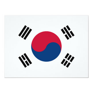 South Korea Flag Card