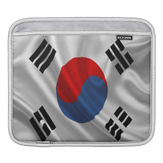 South Korea Flag Fabric iPad Sleeve