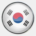 South Korea Flag Glass Ball Sticker