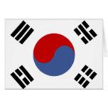 South Korea Flag Greeting Card