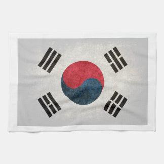 South Korea Flag; Hand Towel