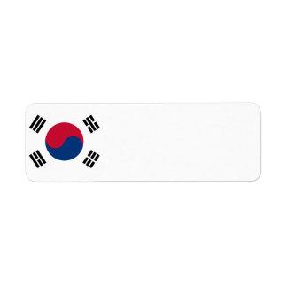 South Korea Flag Label