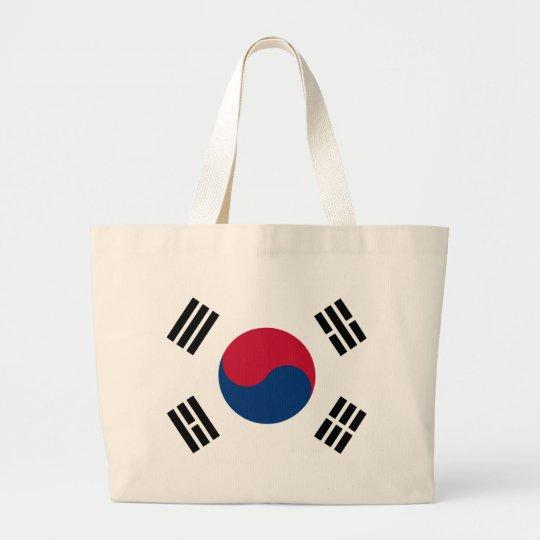 South Korea Flag Large Tote Bag