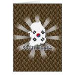 South Korea Flag Map 2.0 Greeting Cards