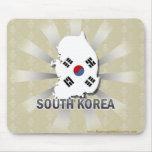South Korea Flag Map 2.0 Mouse Pad