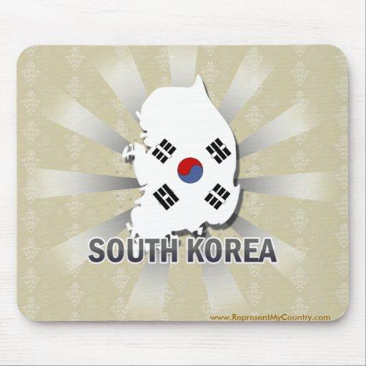 South Korea Flag Map 2.0 Mouse Pads