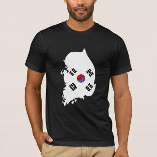 South Korea Flag Map full size T-Shirt