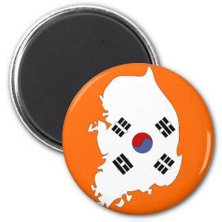 South Korea flag map Magnet