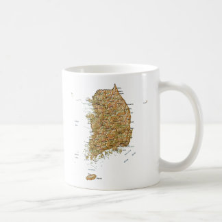 South Korea Flag ~ Map Mug