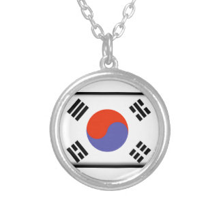 South Korea Flag Custom Necklace