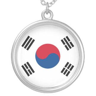 South Korea Flag Necklace