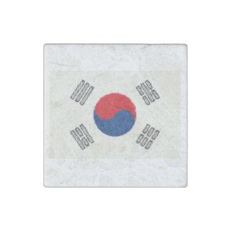 South Korea Flag Oil Painting Stone Magnet