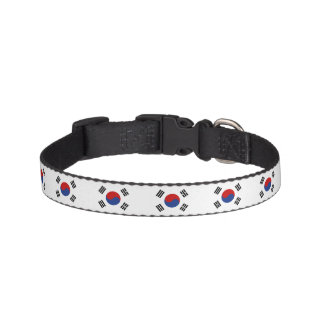 South Korea Flag Pet Collar