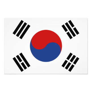 South Korea Flag Photo Print