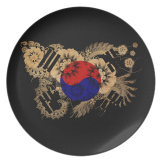 South Korea Flag Party Plates