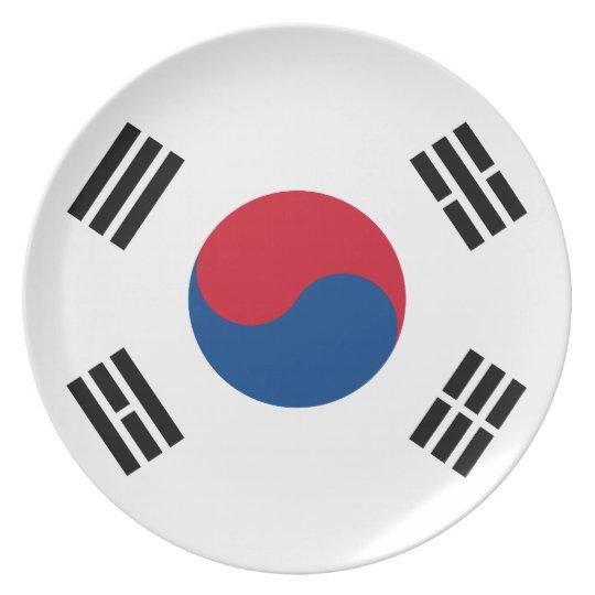 South Korea Flag Plate