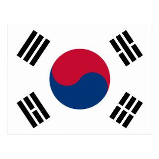 South Korea Flag Postcard
