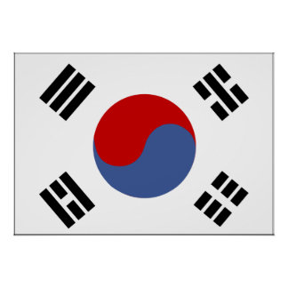 South Korea Flag Poster
