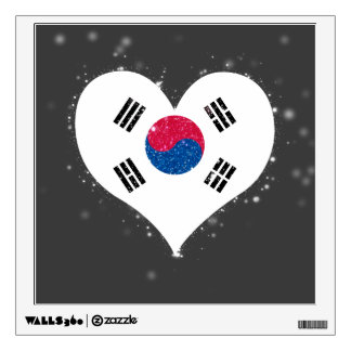 South Korea Flag Shining Beautiful Room Decals