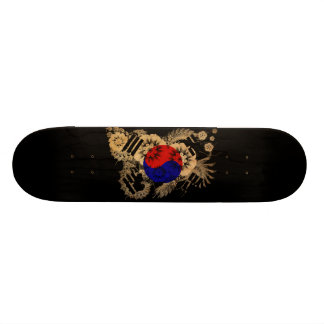 South Korea Flag Skateboard Deck
