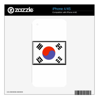 South Korea Flag iPhone 4 Decals