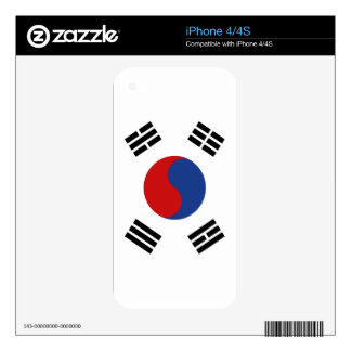 South Korea Flag Decals For iPhone 4