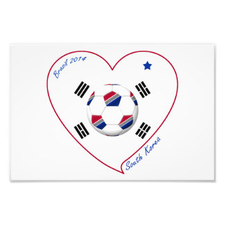 SOUTH KOREA flag SOCCER national team 2014 Photographic Print
