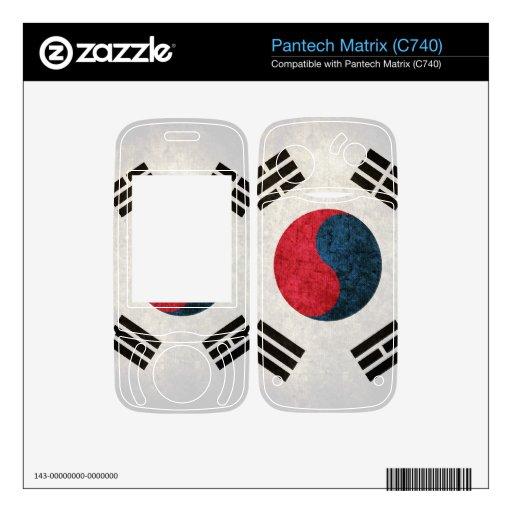 South Korea Flag; South Korean, Pantech Matrix Decal