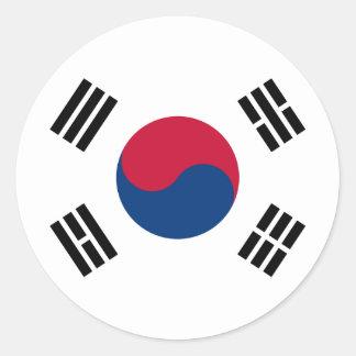 South Korea Flag Round Sticker