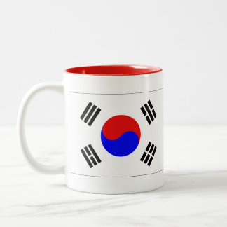South Korea Flag Two-Tone Coffee Mug