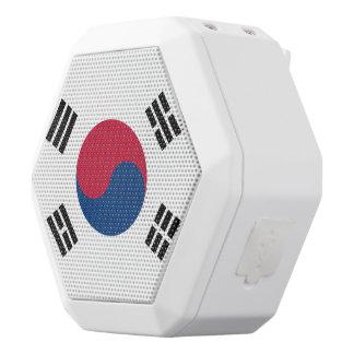 South Korea Flag White Bluetooth Speaker