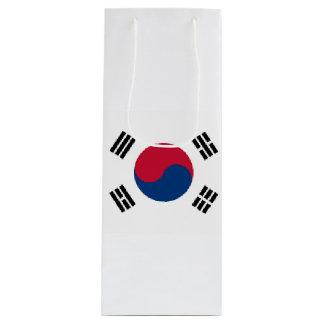 South Korea Flag Wine Gift Bag