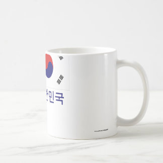 South Korea Flag with Name in Korean Coffee Mug