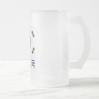 South Korea Flag with Name in Korean Coffee Mugs