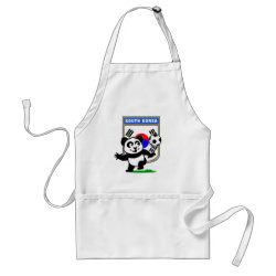 Apron with South Korea Football Panda design