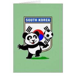 Greeting Card with South Korea Football Panda design