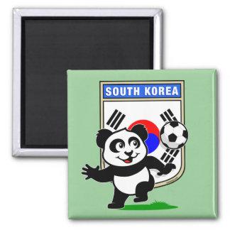South Korea Football Panda Magnet