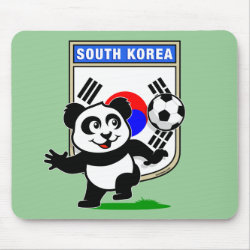 Mousepad with South Korea Football Panda design