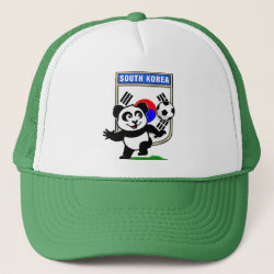 South Korea Football Panda Trucker Hat